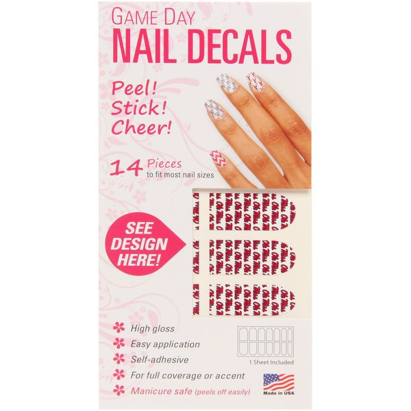 Ole Miss Rebels Game Day Nails - $4.99