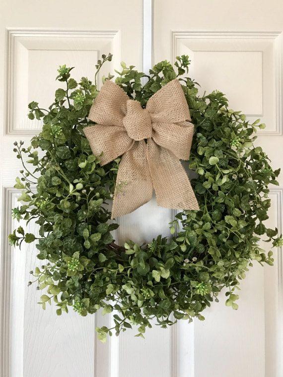 Accent Wreath For Front Doorboxwood Wreathmini Wreatheucalyptus