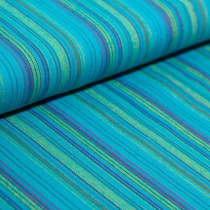Flanell Türkis Grün gestreift 100 % Baumwolle Patchwork Kleiderstoffe Stoffe