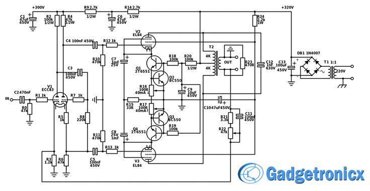 17 watt hifi vacuum tube amplifier gadgetronicx