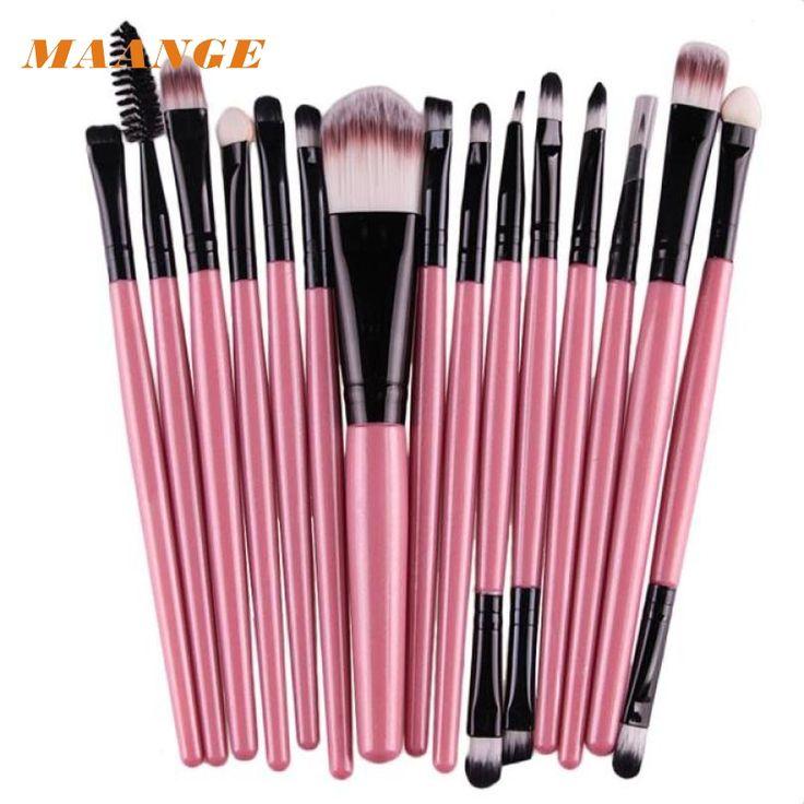 15 stücke Make-Up pinsel-sets Pro haar augenbraue foundation pinsel stift reiniger Kosmetik maquiagem Rouge kosmetik Tropfenverschiffen