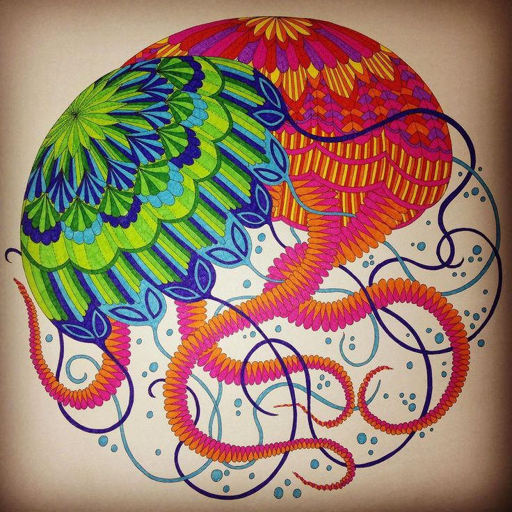Colored Pencil Techniques Adult Coloring Colouring Books Pencils Jellyfish Vibrant Tropical Wonderland