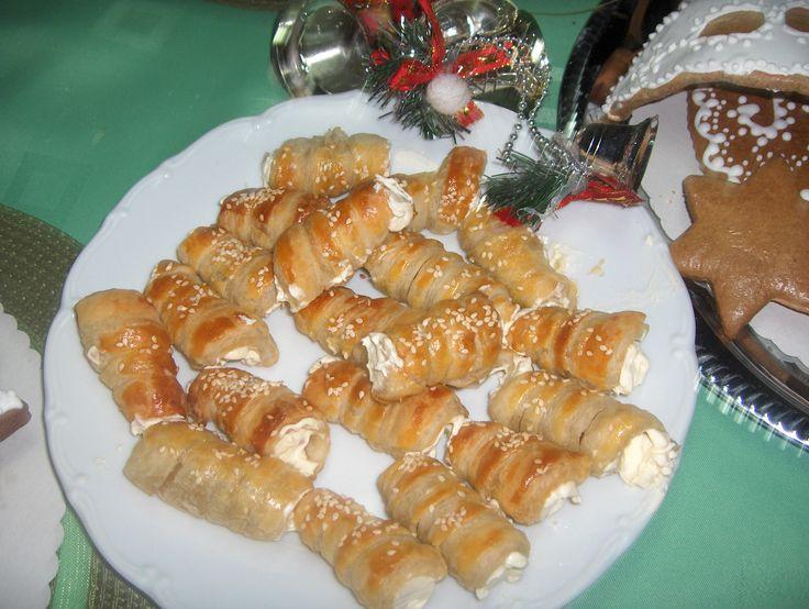 Malé trubičky so syrom