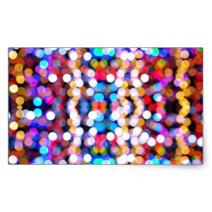 Colourful Bokeh Blurred Light Abstract Pattern Rectangular Sticker - christmas stickers xmas eve custom holiday merry christmas