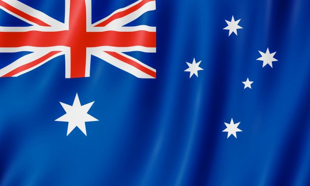 Flag Of Australia 3d Illustration Of The Australian Flag Waving Australian Flags 3d Illustration Illustration