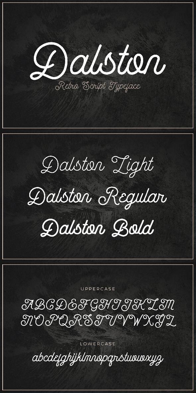 Dalston - Retro Script Font | Fonts | Script typeface
