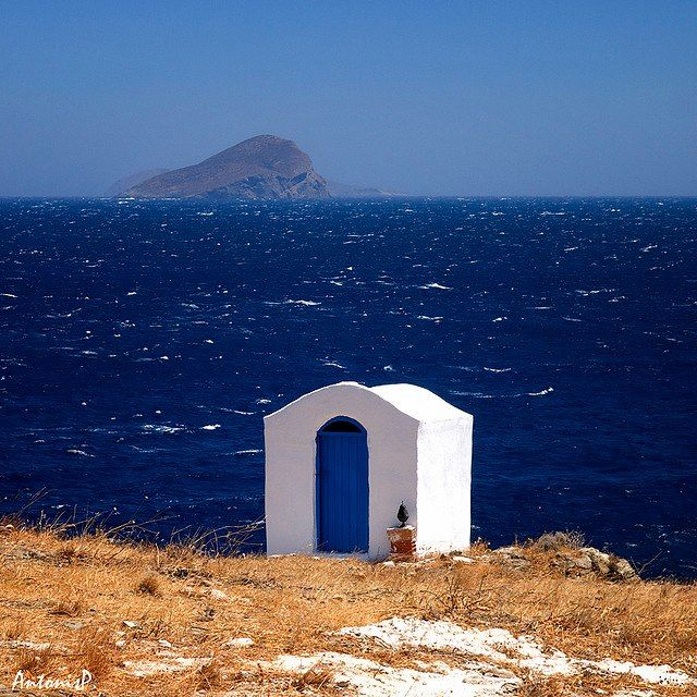 beautiful deep colours in Kythnos island, Greece