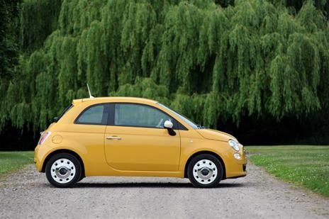 yellow ochre fiat 500, this ones a bit different! www.cardeck.co.uk