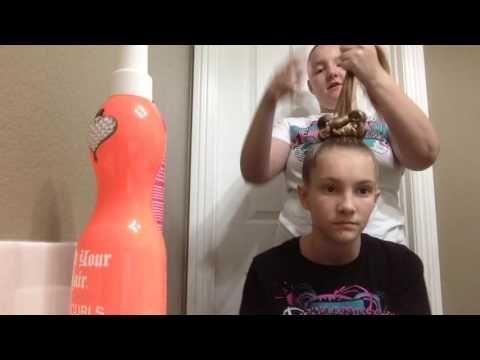 Overnight Cheer Hair Tutorial Vegas Hair Girl - YouTube