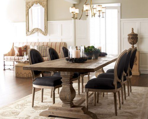 Dining room - rustic table with chairs (just saw these on sale at World Market!)