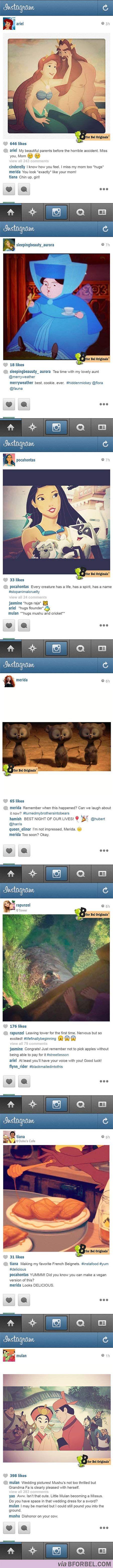 If Disney princesses had Instagram...Hilarious!