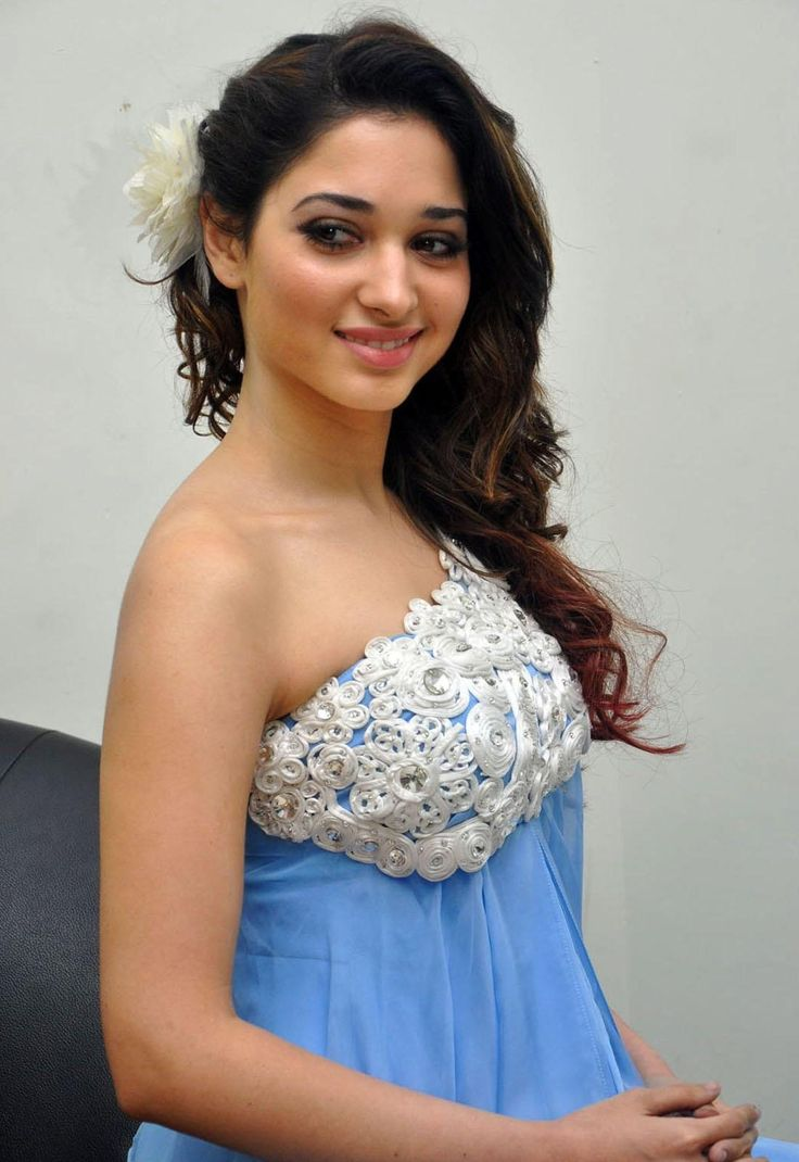Tamanna Bhatia Latest Stills In White And Violet Dress