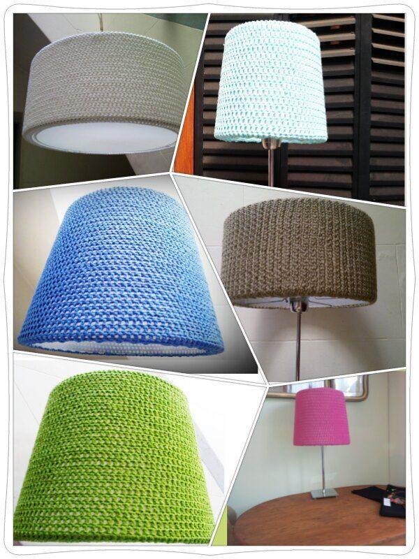 Descripción: Pantallas tejidas al Crochet en hilo o lana, colores y formas a elección.