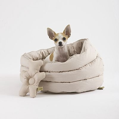 Love this bed in grey! Want it for my dog. All kinds of cool pet stuff @ Mungo & Maud.