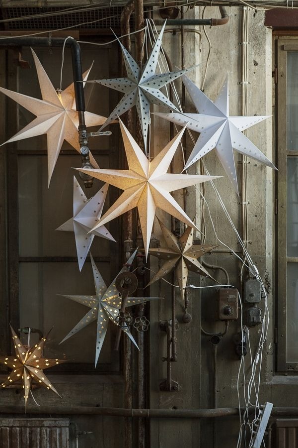 Christmas stars in silver and gold - granit julen 2014 - from trendspanarna.nu
