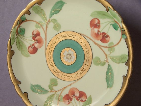 Antique 1890u0027s Art Nouveau plate JPL Limoges plate French porcelain plateu2026 & 456 best DINNER / DECORATIVE PLATES images on Pinterest | Decorative ...