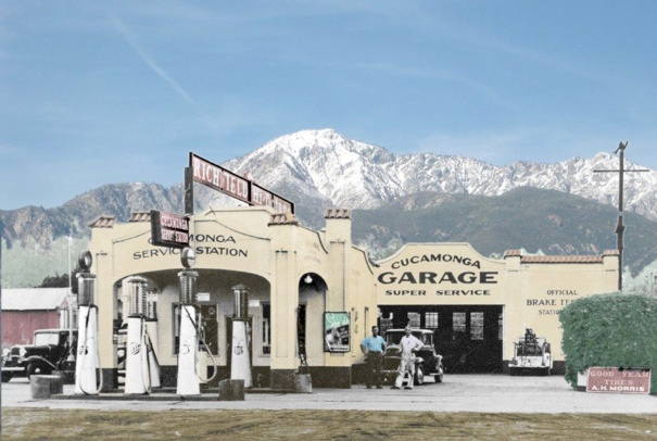 California History Route 66 Rancho Cucamonga. I just saw from another gentlemen that they are restoring it. Nice..