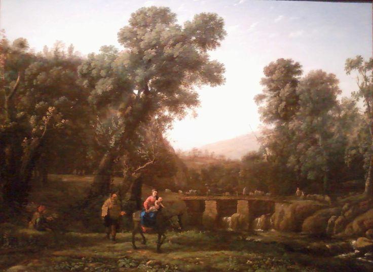 Claude Lorrain - Flight into Eygpt (1635)