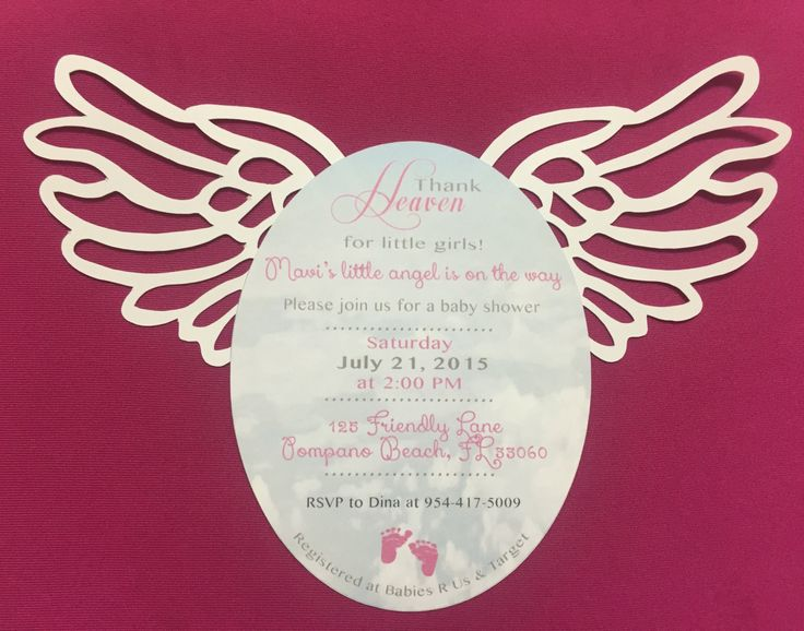Heaven Sent Themed Baby Shower Invitation for a boy or girl by PaperlifebyDHL on Etsy