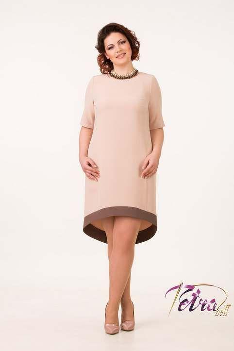 Нарядные и повседневные платья для полных модниц белорусской компании Tetra Bell, весна-лето 2017