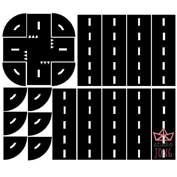 Sticky Roads muurstickers Weg muurstickers In een handomdraai tover je die ene saaie muur of tafel om in een ware eyecatcher met deze leuke wegdelen. Maak je eigen wegennetwerk en cross met auto's over de wegen die je zelf hebt aangelegd. De wegdelen zijn gemaakt van zwarte matte stickerfolie van zware kwaliteit. De sticky road stickers zijn makkelijk verwijderbaar. Zowel binnen als buiten toepasbaar.