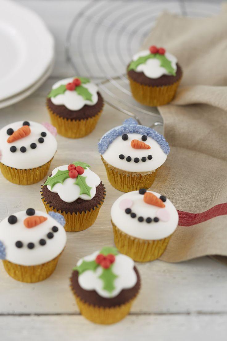 How to Make Christmas Pudding Cupcakes