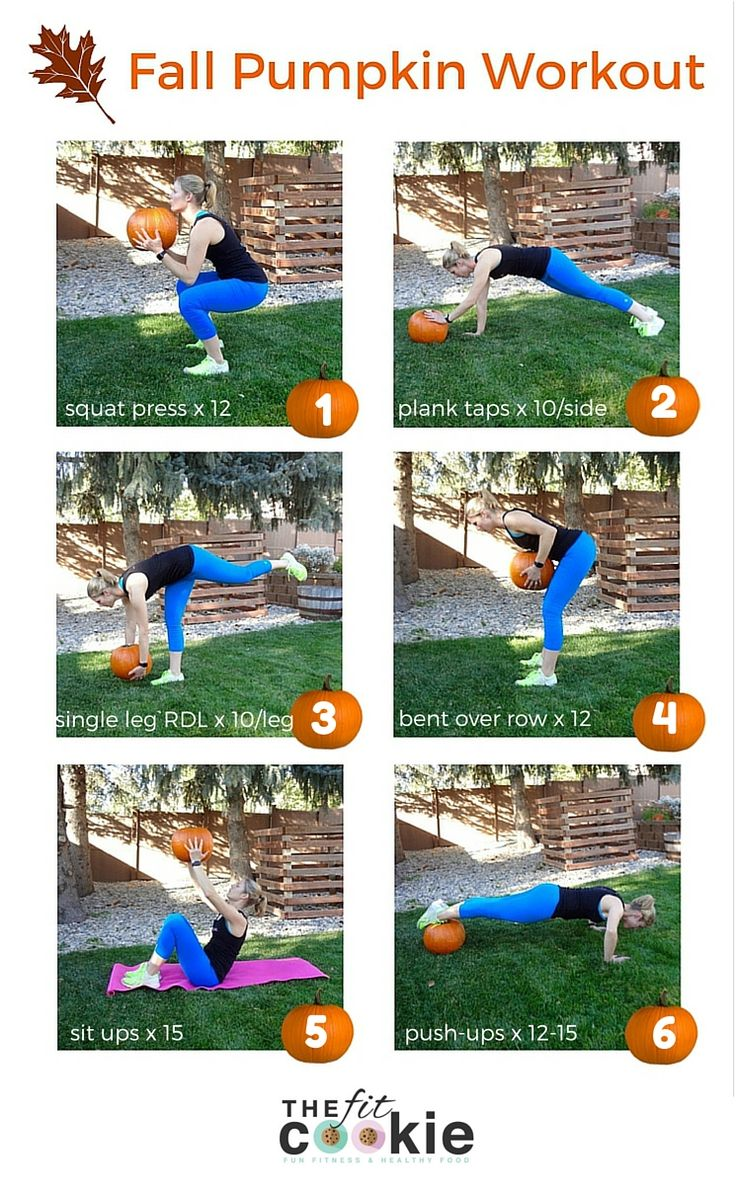 Fun Fall Pumpkin Workout • The Fit Cookie