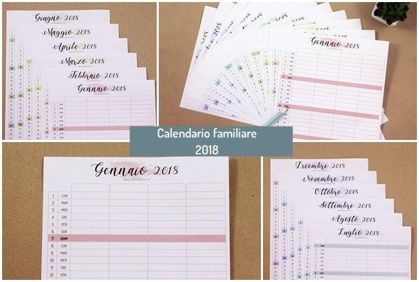 Calendario Da Scaricare.Calendario Familiare 2018 Pdf Da Scaricare Gratis Casa