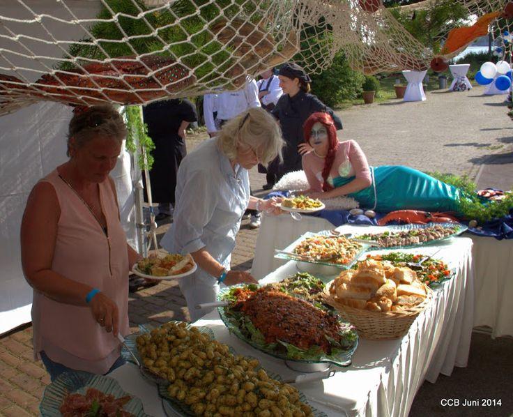 Levend buffet idee / zeemeermin en decoratie