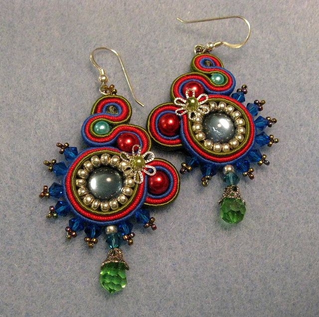 Soutache earrings, via Flickr.