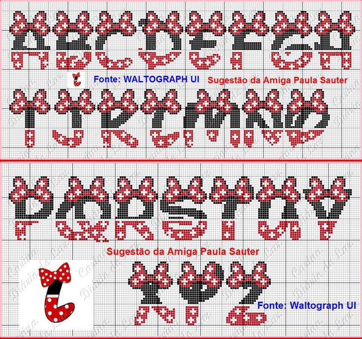 Minnie Mouse Styled alphabet