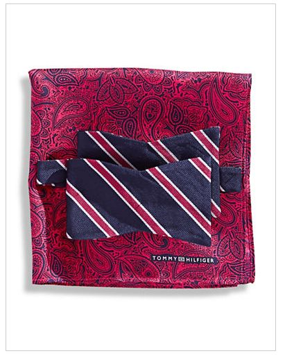 TOMMY HILFIGER Bow Tie and Pocket Square Set $39