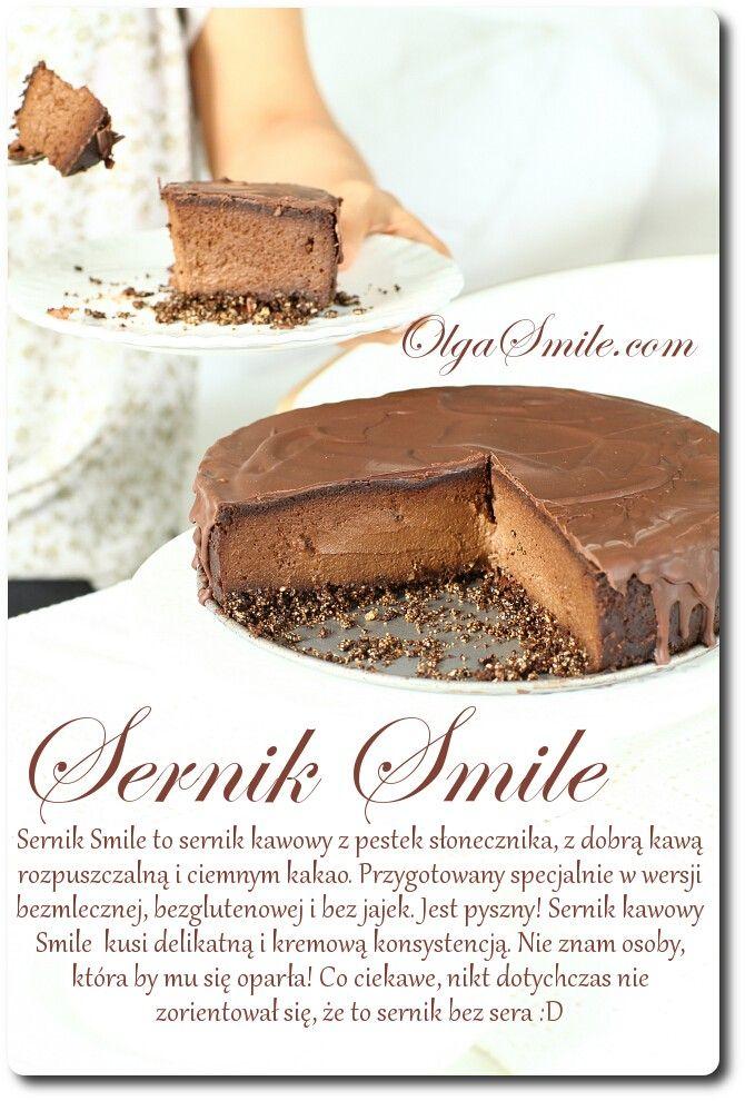 Coffee Cheesecake. Vegan, made with sunflower seeds