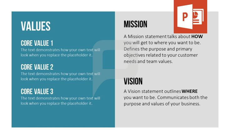 Our new set of PowerPoint templates was specifically designed for companies to present their vision and mission. This template will enable your audience to follow your presentation easily due to its clear structure. Download now at http://www.presentationload.com/vision-mission-statement-powerpoint-template.html