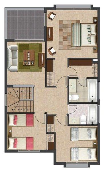17 beste ideeën over Planos Para Casas Pequeñas op Pinterest ...