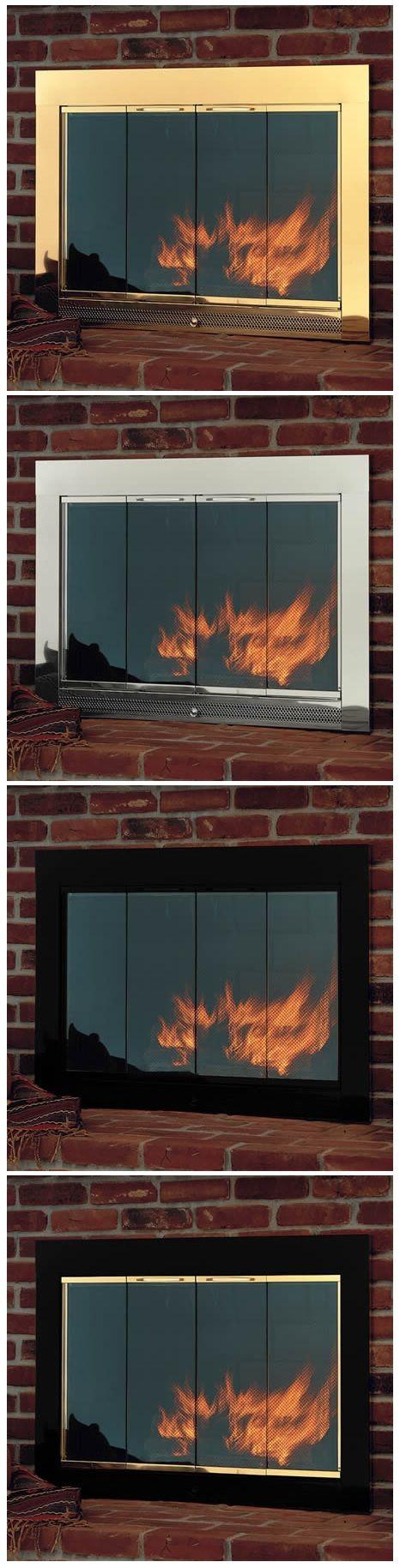 Slimline Fireplace Glass Doors