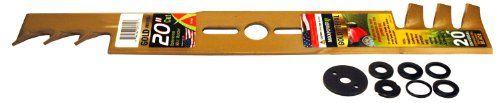 Maxpower 331980S 20-Inch Universal Gold Metal Mulching Lawn Mower Blade - [HOME & GARDEN]