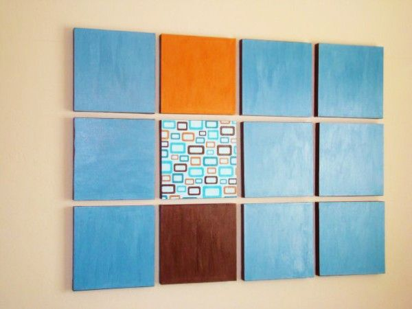 Mod Podge Canvas Wall Art from Mom Spark