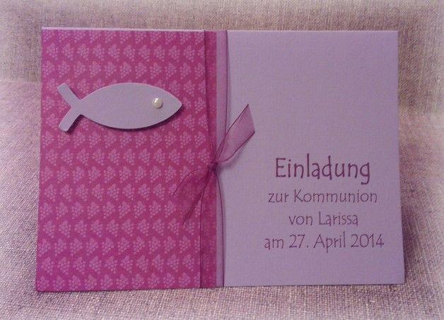 Die besondere Einladung für einen besonderen Tag im Leben Ihres Kindes! - Doppelkarte aus hochwertigem Kartenkarton, gerippt - passendem Umschlag - Einlegeblatt blanko - mit Dekoration,...