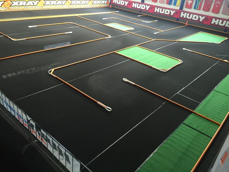 All-new European Championship 1/12 pan car on-road track layout is completed. All set and ready for the show.