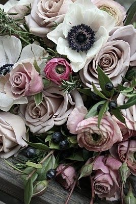 Rustic Roses & Anemones / See more flower inspiration on The LANE