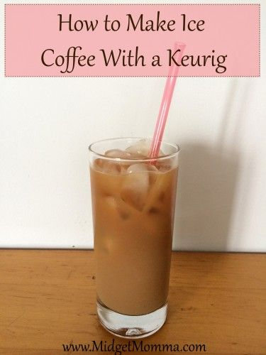 No need to buy the expensive kcups for ice coffee or going out to get one! You can make it at home with ground coffee and your keurig EASY PEASY! #coffee