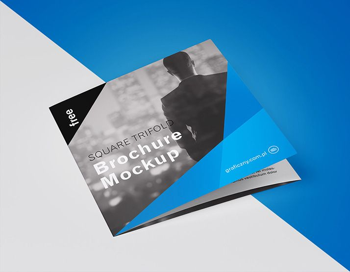 free trifold square brochure we present to you our latest mockup
