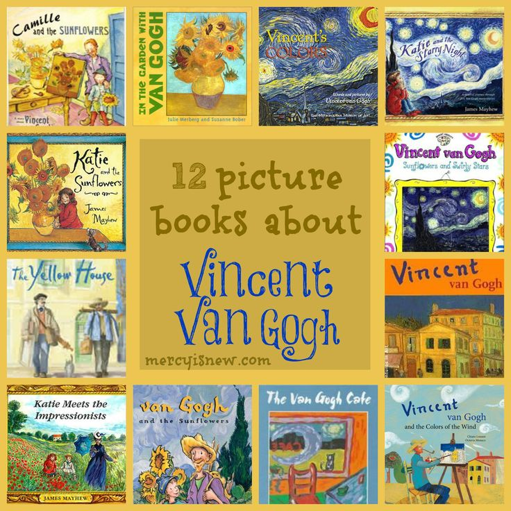 12 Picture Books about Vincent Van Gogh