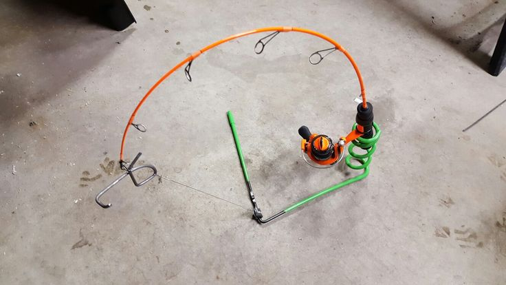 22 best diy jaw jacker images on pinterest fishing ice for Ice fishing rigs