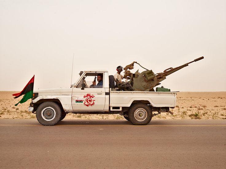 Muhammed and Kalifa, near Ajdabiya, Libya  