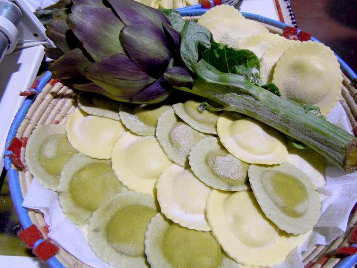 Ravioli ai carciofi #ricettedisardegna #recipe #sardinia #artichokes