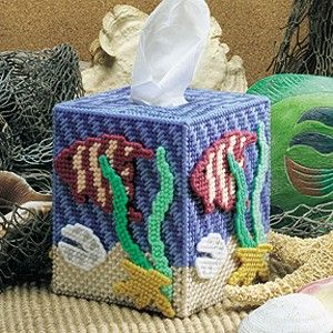 Canva Free Holiday Plastic Gingerbread Patterns | ... tissue box holder| Tissue box plastic canvas - Seascape, Ocean wonders