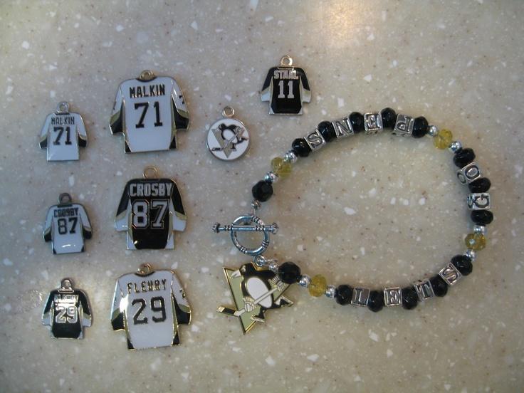 Pittsburgh Penguins charm bracelet by lindsey105 on Etsy