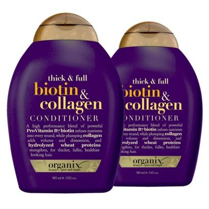 Organix Thick & Full Biotin & Collagen Shampoo &  Conditioner. I highly recommend this. I have been using it for month..and its already thick and healthier. ♥ it!!!